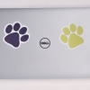 Navy Blue Paw Sticker