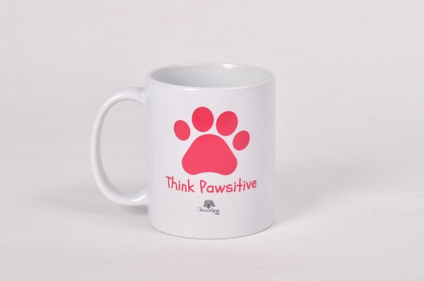 Pink - Think Pawsitive Mug
