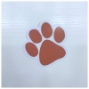 Orange Paw Sticker