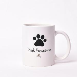 Black -Think Pawsitive Mug
