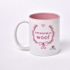 Pink and White Colored Mug